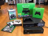 New Xbox One - 500GB (Full Package includes Kinect, 2 controllers, twin docking station and 3 games)