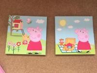 Peppa pig canvas