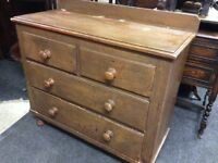 Reduced Victorian chest of drawers