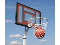 Bee Ball Compact Basketball Stand. Height Adjustable- New Assembled for a Photo Shoot