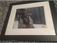 Genuine signed Johnny Depp framed picture