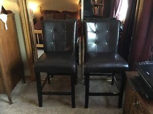 Two bar stools for sale