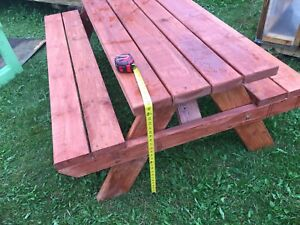 Pic nic tables.. your choice