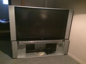 "62"" Toshiba Projection TV with stand"