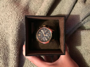 Authentic Michael Kors Watch - Rose Gold and Black