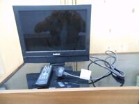 15.4 ins wide screen lcd colour television complete with remote control. and power lead