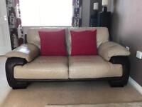 Leather Three & Two Seater sofa suite