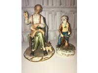 A pair of Capodimonte figurines