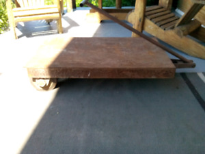 Industrial\ Barn Find Metal Cart.