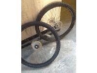 2 x 26 inch wheels