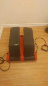 Stepper with exercise bands attached