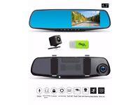 Car Camera Dash Cam Rear View Mirror Car Video 1080P Car Driving Recorder Dual