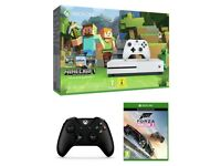 ***SEALED*** Xbox One S 500GB Console Minecraft and Forza Horizon3 Bundle + Controller