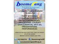Boomerang Cardiff Community Centre Hire