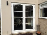Pair of French Doors with frame, made by Anglian, A+ energy rating,