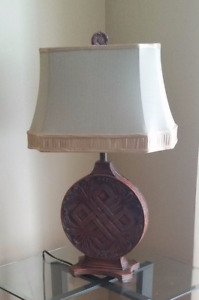 2 Brown classic wood Lamps...