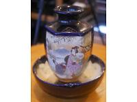 Oriental Vase and Bowl