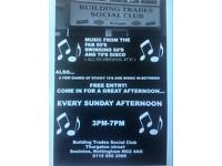 Sunday afternoon disco builders social club
