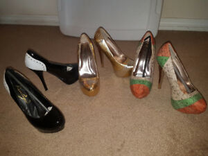 3 prs of womens shoes