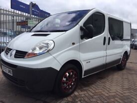 2008 RENAULT TRAFIC CREW VAN ORIGINAL FACTORY BUILD 6 SEATER STUNNER, SIDE WINDOWS AIR CON ELECTRIC