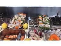 Sea food stall