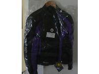 Brand new Rayven Ladies Textile waterproof and breathable jacket in black/purple