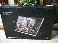 "HUION GT-220 V2 Graphic Drawing Pen Display IPS Monitor 21.5"" New Boxed P/Ex FENDER Guitar"