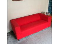 Ikea Klippan 2 seater Sofa - Red (removable cover)