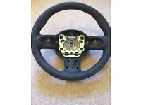 MINI BMW R55, R56, R57 LEATHER SPORTS MULTI FUNCTION LEATHER STEERING WHEEL