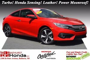 2017 Honda Civic Coupe TOURING Turbocharged Engine! Honda Sensin