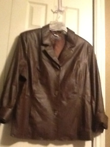 Two new never worn genuine leather coats size 2x