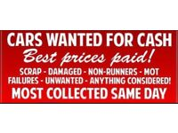 Scrap cars and vans wanted and all scrap top prices paid all South Wales areas