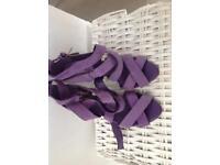 Zara purple sandals