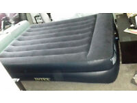 Intex queen size pillow rest raised camping bed / lilo -new, never used, 2 available £80 pair