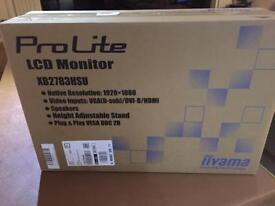 Brand new sealed liyama pro lite xb2783hsu LCD monitor