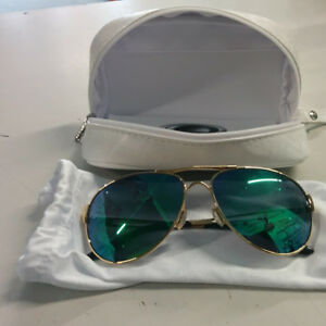 OAKLEY CAVEAT GOLD SUNGLASSES WITH CARRYING CASE