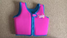 Zoggs pink swim vest/float age 2-3 Excellent Condition