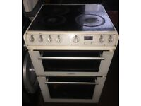 60cm wide electric cooker white colour