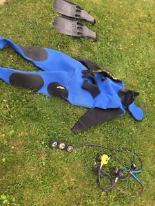 Scuba gear, wet suit, new low price july 28