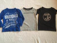 X3 bundle of boys 2-3 years tops all from next