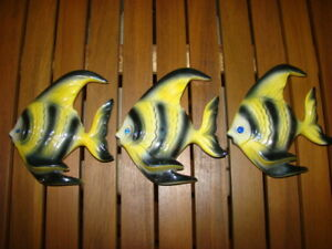 Three Ceramic Fish