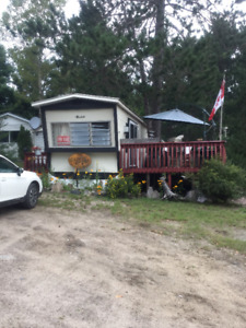 Trailer for sale on French River. Situated at Flat Rapids Park.