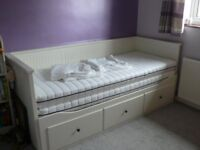 IKEA Hemnes daybed / single bed / guest bed with 2 mattresses and protectors