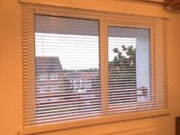 White Venetian 35mm purity Wooden blinds, in excellent condition!!
