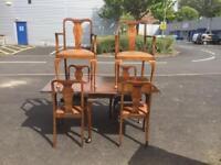 Vintage Mahogany Table & Chairs - Antique Vintage Retro