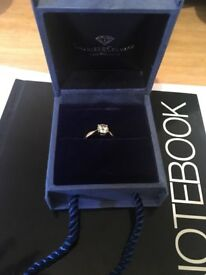 Charles and colvard moissanite 9CT yellow gold 75 point solitaire ring
