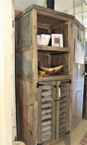 RUSTIC DISPLAY CABINET, HANDCRAFTED FROM RECLAIMED CENTURY WOOD