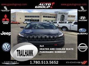 2016 Jeep Cherokee Trailhawk | Leather | Heated and Cooled Seats