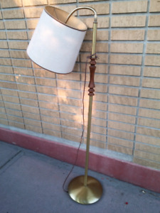 Vintage Gooseneck  Floor Lamp with Shade.