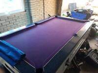 7ft by 4ft slate bed pool table